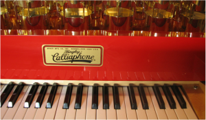 View of Tangley Calliaphone Calliope Keyboard area