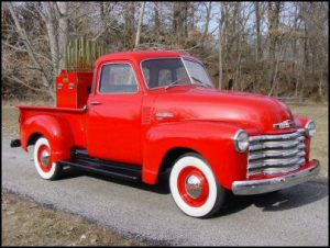 Chevy 5 window truck with 43 note Tangley