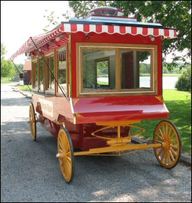 Popcorn Wagon front view photo