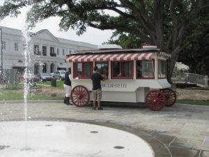 White body popcorn wagon Lafayette Louisiana